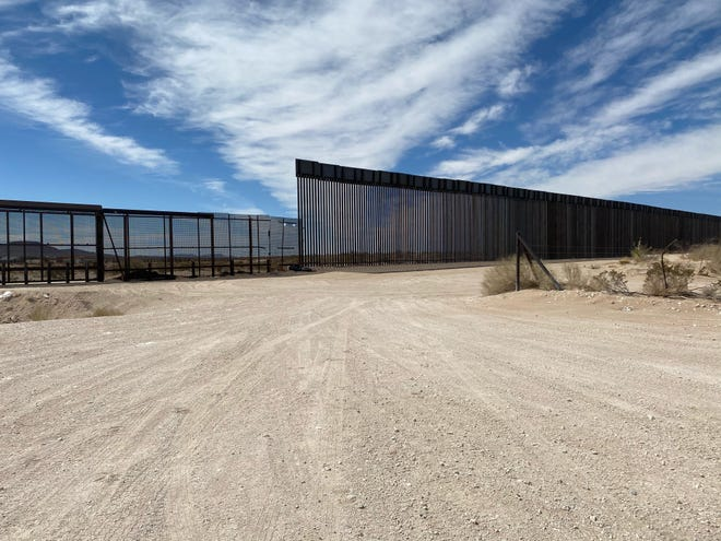 The border barrier along the United States-Mexico Border.