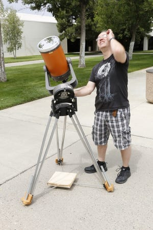 San Juan College Planetarium director David Mayeux will lead a stargazing session in the courtyard outside the Planetarium at 9:30 p.m. May 21, weather permitting.
