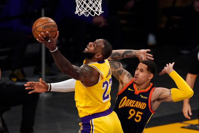 It's Lakers-Suns after LeBron James' desperation 3 stuns Warriors in play-in