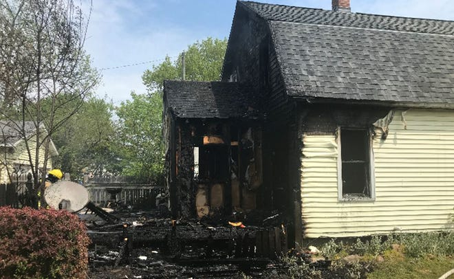 A home on 10th Avenue in Port Huron was damaged in a fire Thursday.