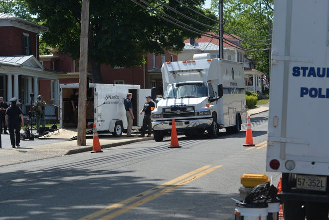 Staunton Police and the U.S. Marshalls were on the scene of a man who barricaded himself inside a home on West Beverley Street on May 20, 2021.