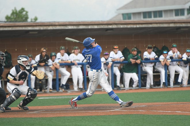 Dixie's Breiten Oaks (27) helped the Flyers to a 4A Semifinals finish with his potent bat and steady improvement.
