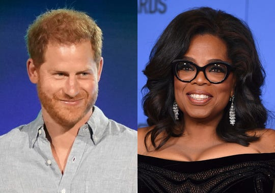 Prince Harry and Oprah Winfrey have partnered to discuss mental health with celebrity guests like Glenn Close and Robin Williams' son Zak Williams
