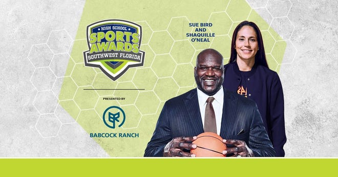 Basketball Hall of Famer Shaquille O'Neal and WNBA World Champion Sue Bird to present Athlete of the Year awards at the Southwest Florida High School Sports Awards.
