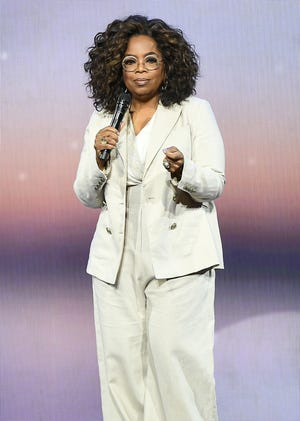 Oprah Winfrey speaks candidly about her childhood trauma in the Apple TV+ series, for which she and Harry are executive producers.