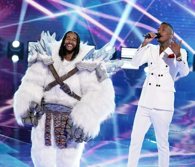 """Yeti, who turned out to be singer Omarion, was iced out of the competition during the semifinals episode of """"The Masked Singer."""""""