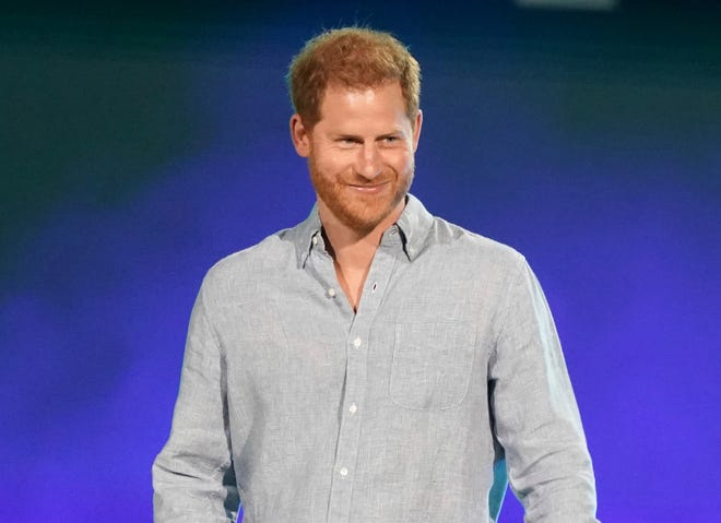"""Prince Harry, Duke of Sussex, says of him and his wife  Meghan, Duchess of Sussex:  """"We choose to put our mental health first, that's what we're doing and that's what we'll continue to do."""""""