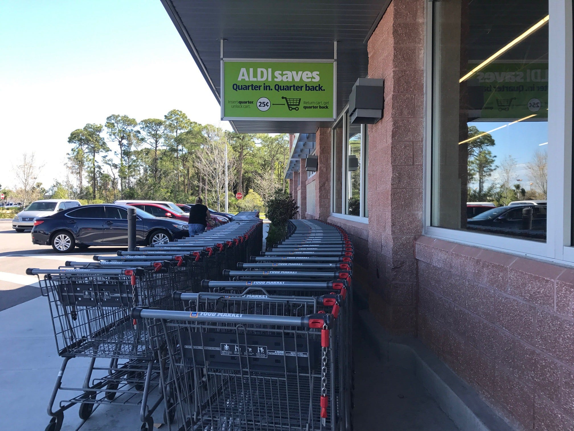 Aldi says it keeps prices low with its cart system.
