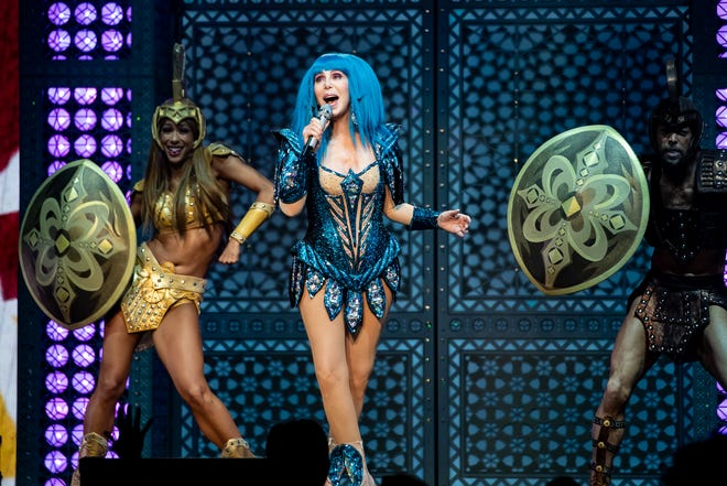 Cher performs live on stage on her Here We Go Again tour at the AT&T Center on Dec. 17, 2019 in San Antonio, Texas.