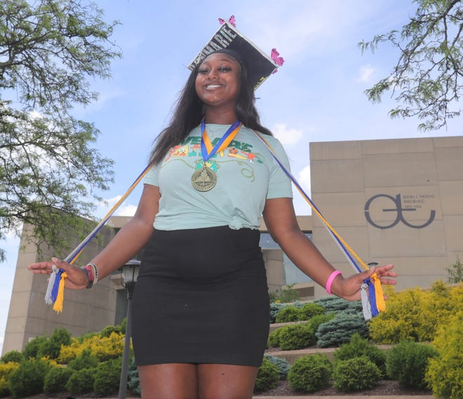 Don'Marie Reid, a participant in the first I Promise Program class, is graduating from high school and will attend Kent State University in the fall.