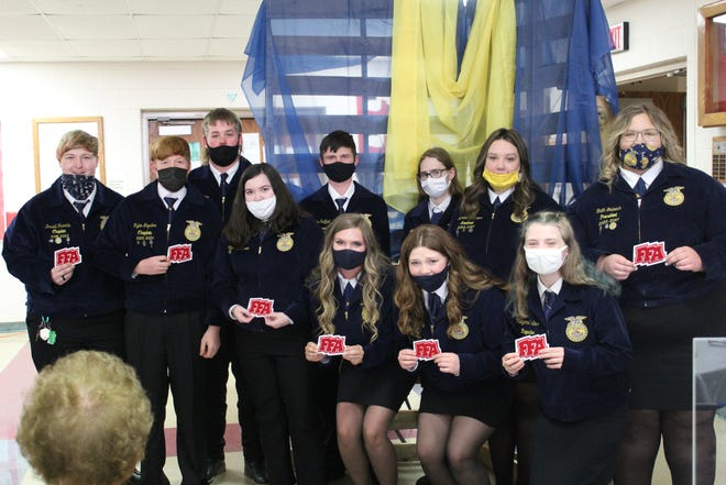 Pictured are the Union Local FFA members who received their FFA letter patches.