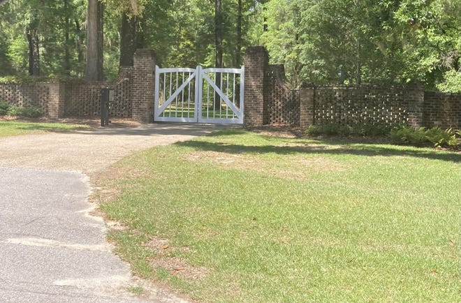 A gate into Congaree Golf Club can be seen from U.S. 278 near Gillisonville.