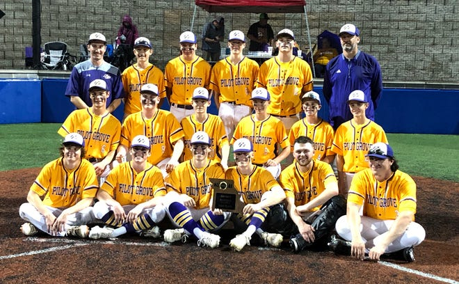 The Pilot Grove baseball team captures the Class 1 District 9 title Thursday night in California by beating the Prairie Home Panthers 12-5. The Tigers, 18-6 on the season, will play Monday night in the sectional round of the state playoffs in Pilot Grove.