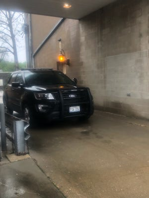 Pictured is Avon's squad car. It's the same car the Avon village president allowed his wife to drive May 15. Illinois State Police are currently investigating.