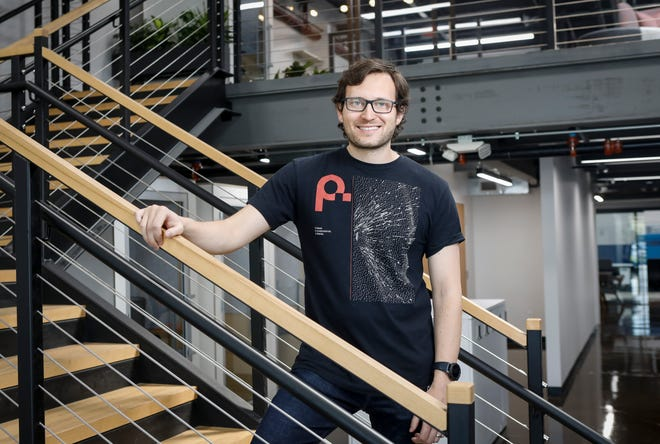 Path Robotics CEO Andy Lonsberry founded the Brewery District company with his brother Alex Lonsberry.