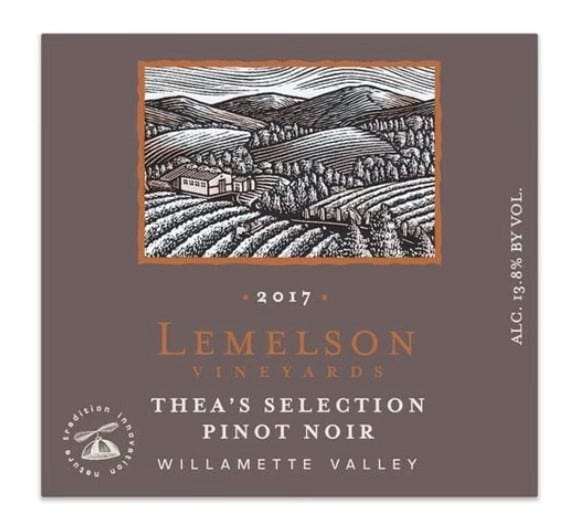 """2017 LemelsonVineyards """"Thea's Selection"""" Pinot Noir"""