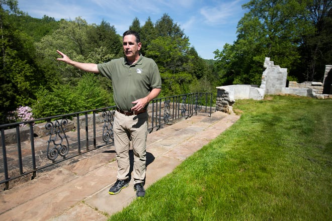 Metro Park Director, Tim Moloney, explains the history of the remains in Clear Creek Metro Park, the site of a former 4700-square-foot house owned by the donors of the land. The Metro Park system rented the property to developer with close ties to it for years, with no public process, according to records.