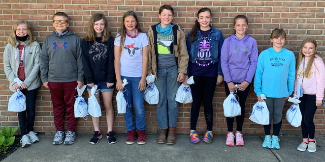 The winning participants of the LMIS Careers with Chalk event were Charlie Bishop, Garrett Helser, Ava Murphy, Isabella DeMattio, Titus Morrow, Brenna Milliner, Kendall Snider, Cora Dever, and Emily Moyer.