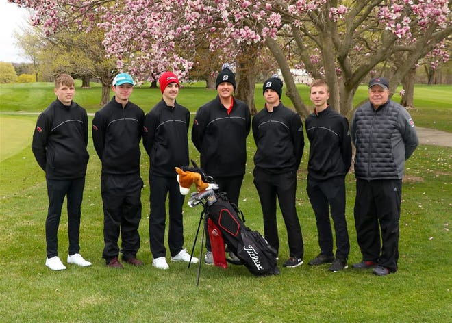 The Coldwater varsity golf team competed in the Interstate 8 Conference Championship on Thursday, taking seventh place and securing fifth place for the season.