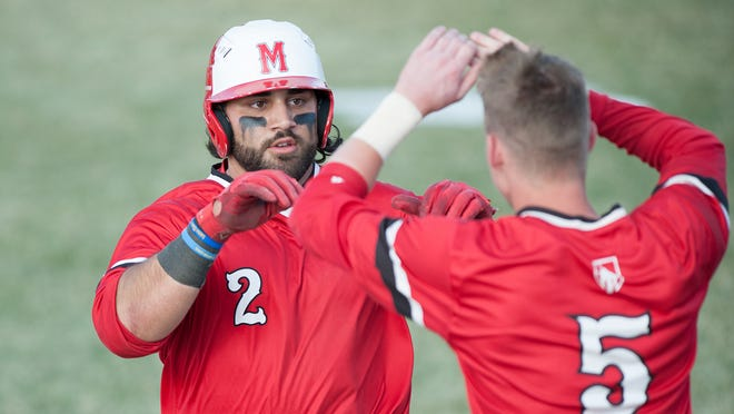 Mike Dato, a right-handed first baseman from Oswego, moved past a pair of Galesburg Silver Streaks sluggers on his way to Monmouth College's career home run record.