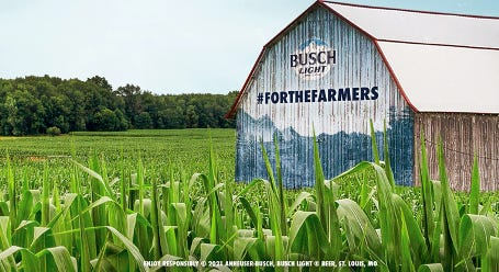 Farmers in Kansas can apply to have their barnpainted with the campaign design.If selected, Busch will pay them $5,000 to display a customized #ForTheFarmers ad on their structure.