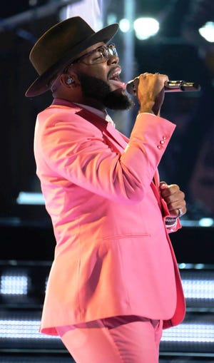 """Peoria High School graduate Victor Solomon was a finalist on the NBC singing-competition show """"The Voice"""". He is scheduled to sing the national anthem before a Peoria Chiefs baseball game July 4 at Dozer Park in Peoria."""