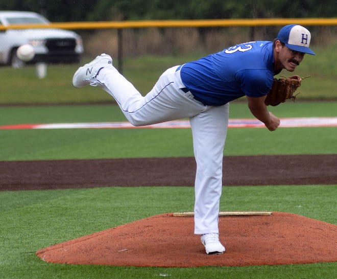 Halstead junior Chandler Drake pitched a complete-game win against Haven Wednesday in the Class 3A regionals. Halstead ends the season 10-12.