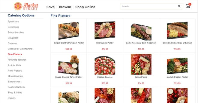 All United Supermarkets and Market Street locations across Texas now offer online party tray and cake ordering.