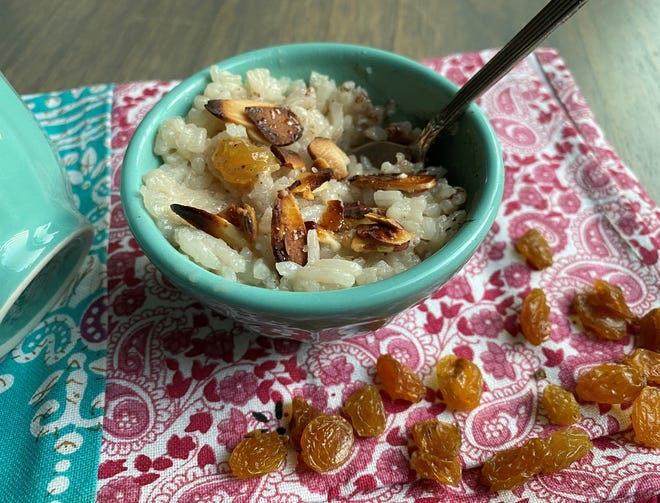 This rice pudding incorporates coconut milk and creates a wonderful combination of textures. The creaminess it gives the pudding is every bit as good as the recipe using heavy whipping cream.