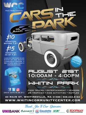 The Whitin Community Center recently announced the return of its Cars In The Park event from 10 a.m. to 4 p.m. Aug. 21.