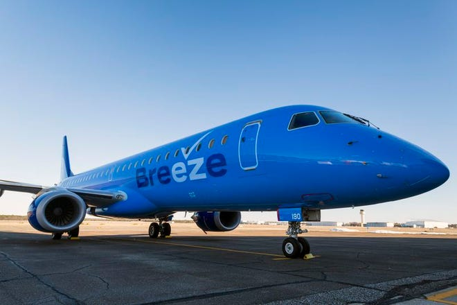 Breeze Airways plans to start making flights in and out of Oklahoma City this summer.