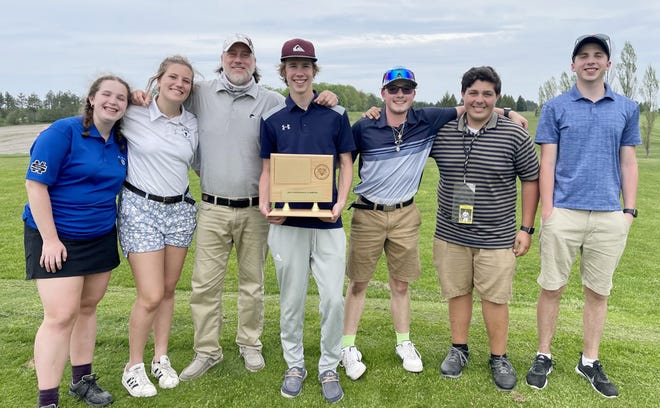 The Gaylord St. Mary golf team earned a Northwest Conference Championship recently, with Tristan Glasby (middle) also earning an individual title.