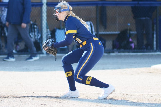 Gaylord's Abby Radulski came through with a pair of home runs when the Blue Devils swept TCSF.