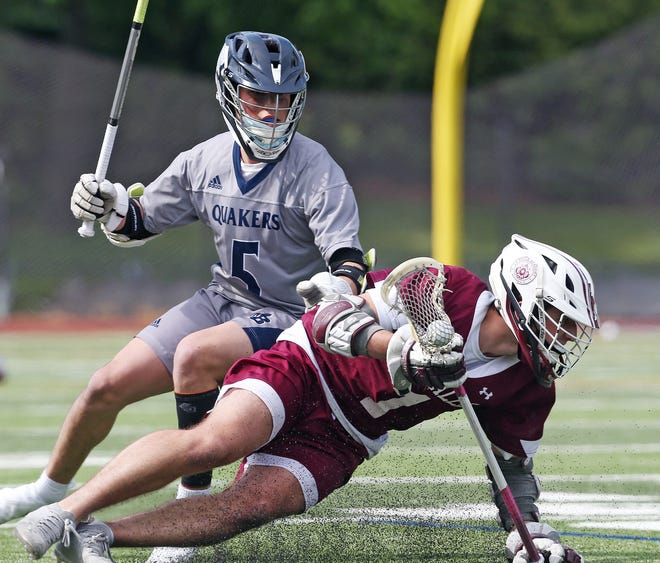 La Salle's Anthony DiCenso (right) was the best faceoff man in Rhode Island this spring, earning himself a spot on the Providence Journal All-State First Team as well as being named ProJo Boys Lacrosse Player of the Year.