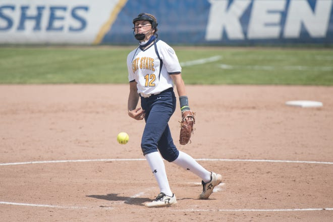 Jessica LeBeau earned Second Team All-Mid-American Conference honors as a freshman pitcher for Kent State in 2021.