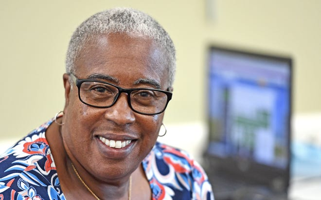 Carolyn Mason is a rental assistance ambassador at the Betty J. Johnson library in Sarasota, where this week they had 89 walk-ins. Mason says that about one out of every four people who arrive need help with digital literacy issues, while others experience broadband or device issues.