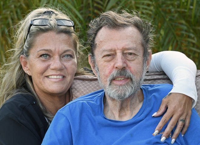 Shawn Marie Gosline here with her dad Richard Gosline, 73, who suffered a severe stroke five-years ago, which inspired her to start her own in home health care service.
