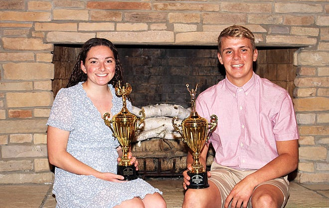 Laci Gottschalk and Rylee Cain were named as the Sturgis Outstanding Athletes of the Year on Thursday night at the 98th annual Exchange Club All-Sports Banquet.