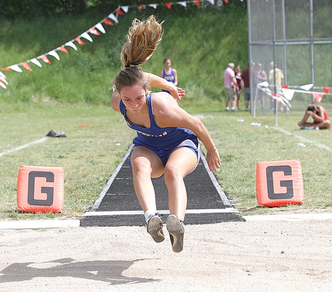 Danielle Stauffer of Centreville took second place overall in the long jump event, qualifying for state.