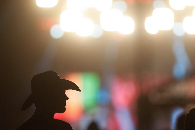 A silhouette of a man and his cowboy hat is pictured in this photo, which was taken at the 2016 Country Stampede music festival. This year's festival will take place in Topeka.