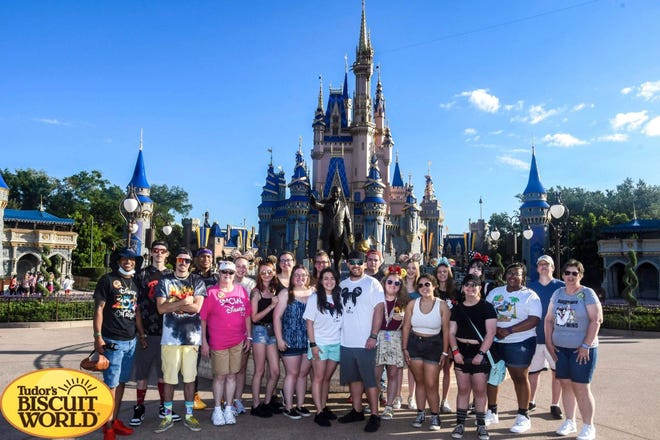 All Tudor's Biscuit World employees and their families went on a two-day trip to Disney World in Orlando on May 14. Nick and Cara Schirtzinger, owners of the restaurant at 2621 W. 23rd St., said it was their way to show appreciation to their incredible staff on the company's five-year anniversary.