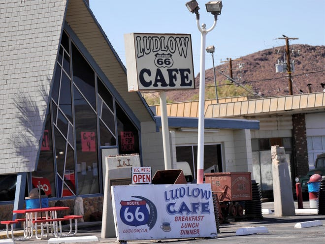 The Ludlow Cafe in the small Mojave Desert town of Ludlow, Calif.