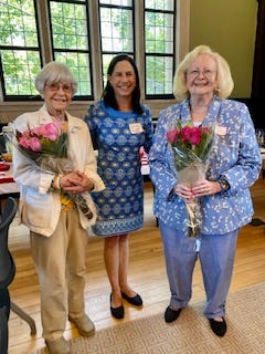 From left, Women's Community League of Weston members Sally Utiger, Ginia Ziobro and Marcia Lipson.
