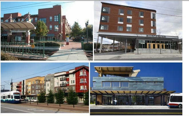 Examples of affordable housing Asheville is considering to be built as part of an expansion of its bus depot.