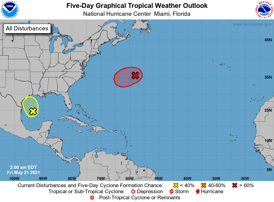 National Hurricane Center watching 2 systems, including one in Gulf of Mexico 3