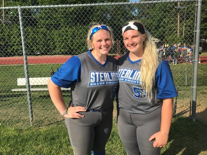 Sisters Molly, left, and Mallory Skelly are playing key roles during their first season together with the Sterling High School softball team.