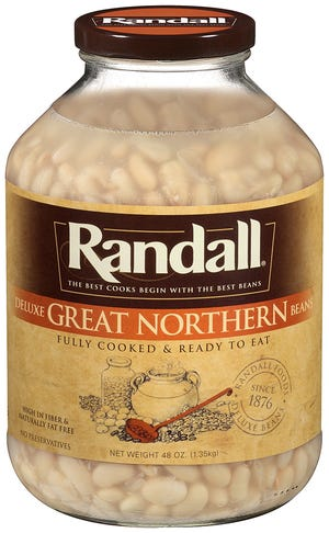 Jars of Randall beans processed in a Michigan facility being recalled.