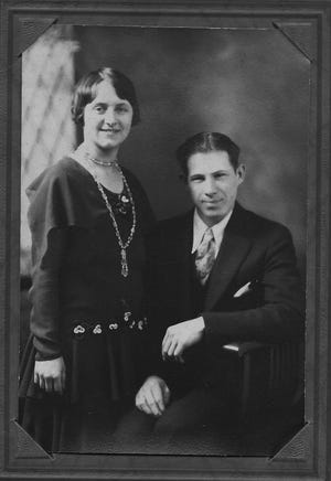 Ernest and Elsie Karcher in 1929, the year of their marriage.