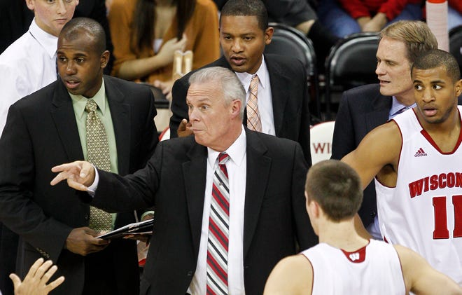 Sharif Chambliss, left, was a member of Bo Ryan's Wisconsin staff from 2010-12.