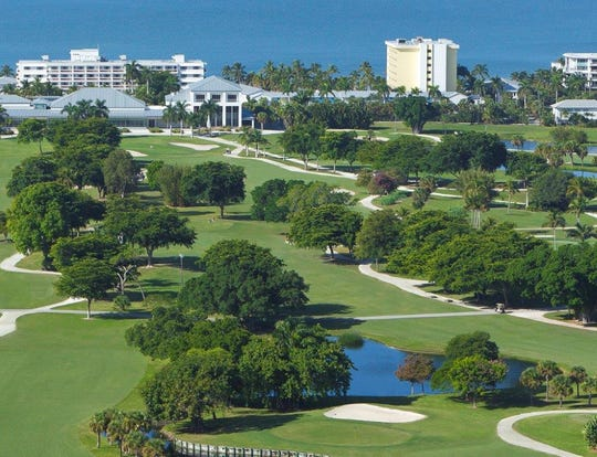 An aerial view of The Naples Beach Hotel & Golf Club, which closed after 75 years on Sunday, May 23, 2021, to make way for redevelopment.